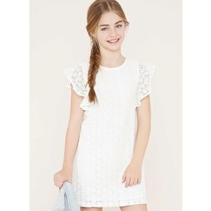 Forever 21 girls white lace dress